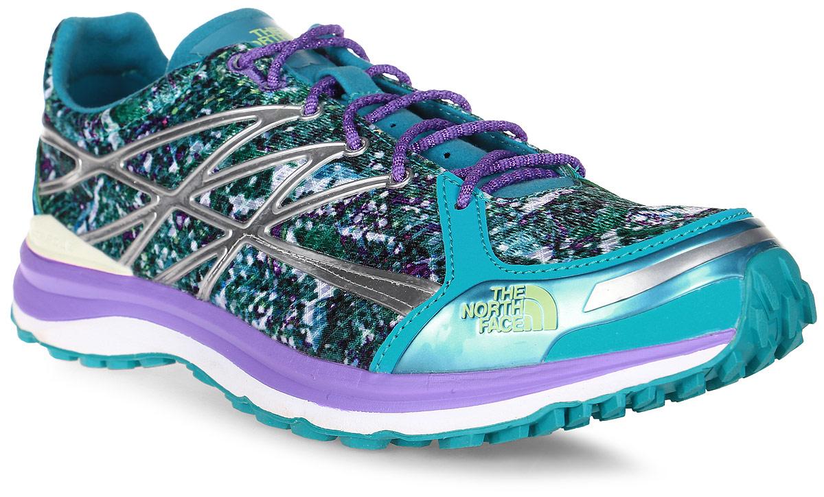 Кроссовки для бега женские The North Face Ultra TR II, цвет: бирюзовый, фиолетовый, зеленый, серый. T0CKM4ERV. Размер 10 (40)