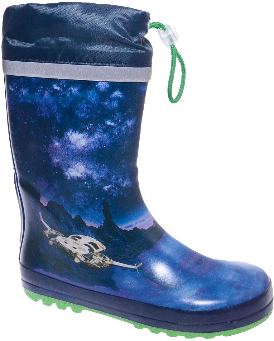 Сапоги резиновые для мальчика Котофей, цвет: синий. 566139-11. Размер 35566139-11Резиновые сапоги для мальчика от Котофей - идеальная обувь в дождливую погоду. Сапоги выполнены из качественной резины. Подкладка и стелька выполнены из текстильных материалов, которые обеспечивают полный комфорт при носке. Также сапоги дополнены текстильным верхом, объем которого регулируется с помощью шнурка со стоппером. Утолщенная подошва выполнена из ТЭП-материала с высокой устойчивостью к истиранию.