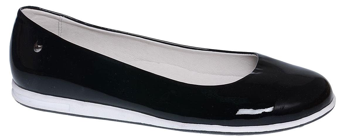 Туфли для девочки Котофей, цвет: черный. 632211-21. Размер 36632211-21Лаконичные туфли для девочки от Котофей выполнены из натуральной лаковой кожи. Внутренний материал и стелька, выполненные из натуральной кожи, дарят дополнительный комфорт и позволяют ногам дышать. Подошва, выполненная из ТЭП-материала, обеспечивает хорошую амортизацию.