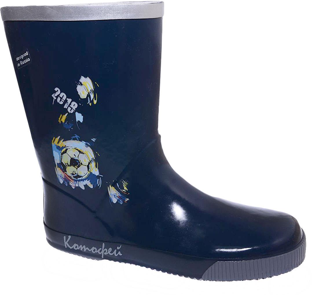 Сапоги резиновые для мальчика Котофей, цвет: темно-синий. 766047-12. Размер 39766047-12Резиновые сапоги для мальчика от Котофей - идеальная обувь в дождливую погоду. Сапоги выполнены из качественной резины. Подкладка и стелька выполнены из текстильных материалов, которые обеспечивают полный комфорт при носке. Утолщенная подошва выполнена из ТЭП-материала с высокой устойчивостью к истиранию.