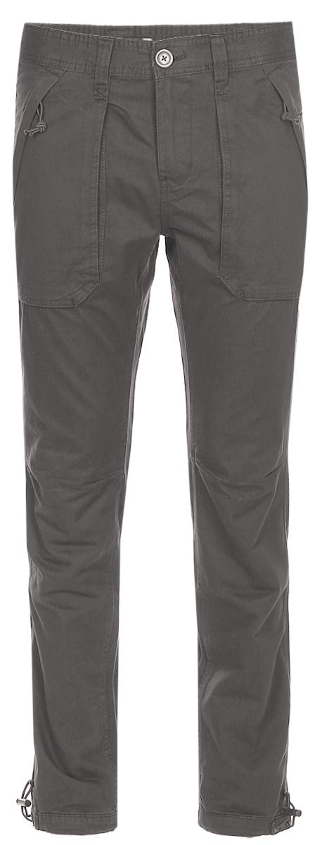Брюки мужские Sela, цвет: коричневый. P-415/013-7320. Размер 50P-415/013-7320Мужские брюки Sela, выполненные из натурального хлопка, помогут создать модный повседневный образ. Модель прямого кроя со стандартной линией талии застегивается на молнию и пуговицу. На поясе имеются шлевки для ремня. Изделие дополнено двумя накладными карманами на молнии спереди и двумя накладными карманами с клапанами на липучке сзади. Низ брючин можно утянуть при помощи резинки с фиксатором. Брюки подойдут для прогулок или дружеских встреч и станут отличным дополнением к гардеробу. Мягкая ткань приятна на ощупь и комфортна в носке.