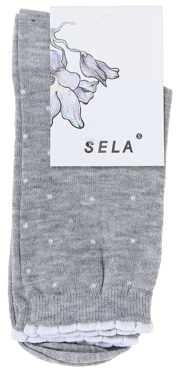 Носки женские Sela, цвет: светло-серый меланж. SOb-154/055-7331. Размер 21/23SOb-154/055-7331Удобные женские носки Sela изготовлены из высококачественного приятного на ощупь материала в горошек. Благодаря содержанию мягкого хлопка в составе, кожа сможет дышать, а эластан позволяет носкам легко тянуться, что делает их комфортными в носке. Фигурная эластичная резинка с контрастной полоской по краю плотно облегает ногу, не сдавливая ее, и обеспечивает комфорт и удобство. Уважаемые клиенты! Размер, доступный для заказа, является длиной стопы.