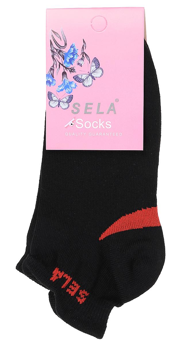 Носки для девочки Sela, цвет: черный. SOb-4/185-7311. Размер 14/16SOb-4/185-7311Укороченные носки для девочки Sela изготовлены из высококачественного приятного на ощупь материала. Благодаря содержанию мягкого хлопка в составе, кожа сможет дышать, а эластан позволяет носкам легко тянуться, что делает их комфортными в носке. Мягкая эластичная резинка плотно облегает ногу, не сдавливая ее, и обеспечивает комфорт и удобство. Уважаемые клиенты! Размер, доступный для заказа, является длиной стопы.