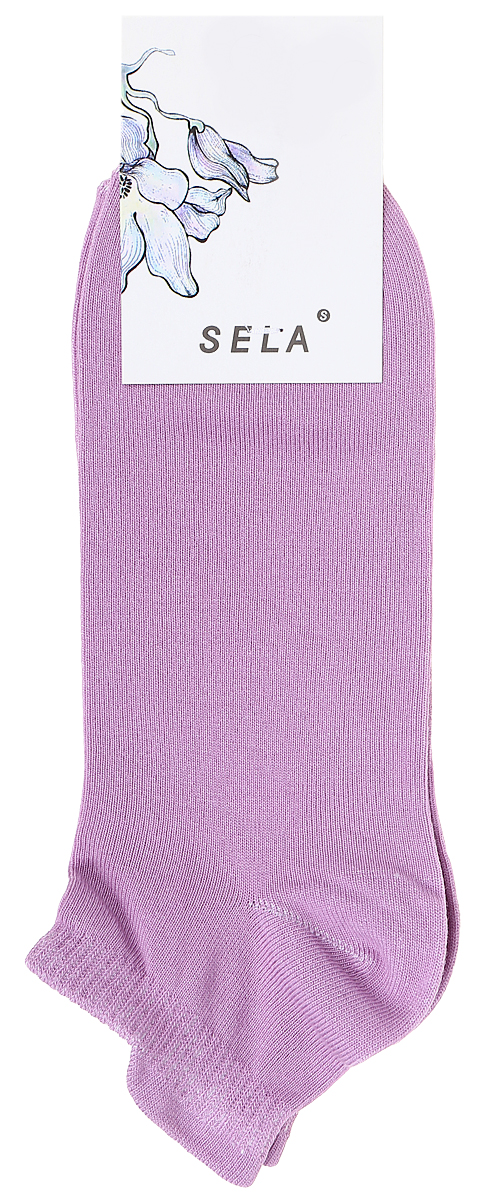 Носки женские Sela, цвет: розовый. SOb-154/058-7371. Размер 21/23SOb-154/058-7371Укороченные женские носки Sela изготовлены из высококачественного приятного на ощупь материала. Благодаря содержанию мягкого хлопка в составе, кожа сможет дышать, а эластан позволяет носкам легко тянуться, что делает их комфортными в носке. Мягкая эластичная резинка плотно облегает ногу, не сдавливая ее, и обеспечивает комфорт и удобство. Уважаемые клиенты! Размер, доступный для заказа, является длиной стопы.
