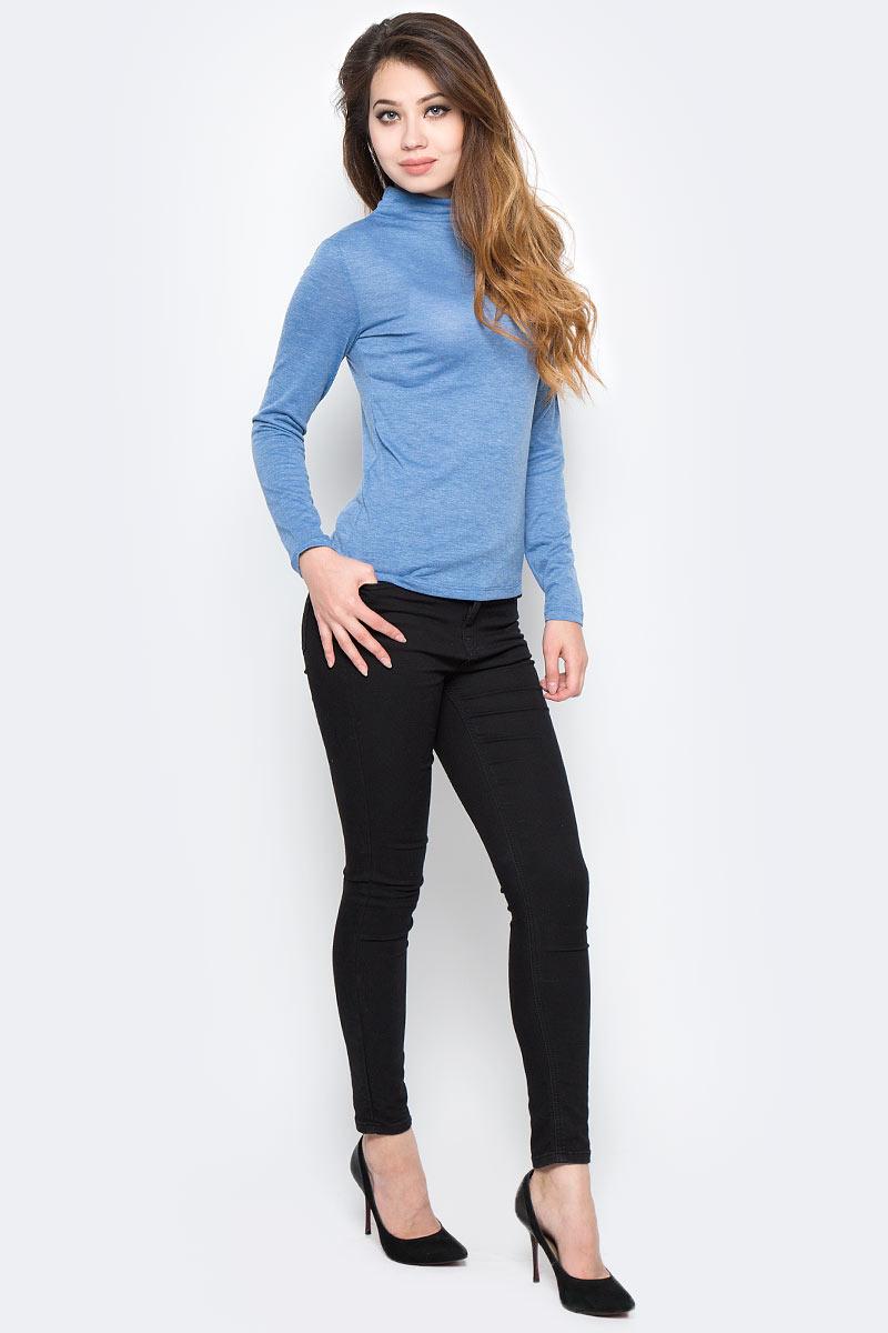 Водолазка женская Sela, цвет: синий. Tt-111/1296-7390. Размер XL (50)Tt-111/1296-7390Стильная женская водолазка Sela поможет создать модный образ и станет отличным дополнением к повседневному гардеробу. Модель приталенного кроя с воротником-стойкой и длинными рукавами изготовлена из качественного материала. Модель подойдет для офиса, прогулок или дружеских встреч и будет отлично сочетаться с джинсами и брюками, а также гармонично смотреться с юбками. Мягкая ткань на основе полиэстера, вискозы и эластана приятна на ощупь и комфортна в носке.