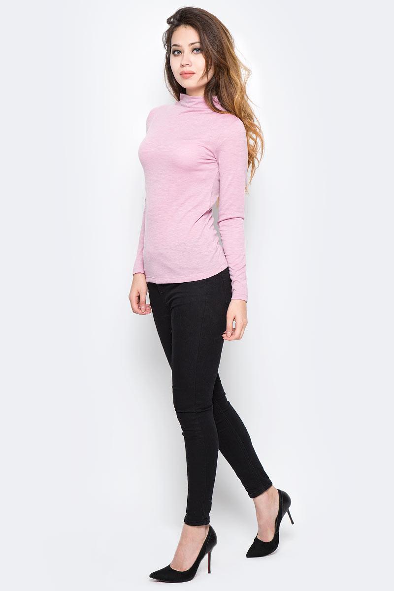 Водолазка женская Sela, цвет: розовый. Tt-111/1296-7390. Размер S (44)Tt-111/1296-7390Стильная женская водолазка Sela поможет создать модный образ и станет отличным дополнением к повседневному гардеробу. Модель приталенного кроя с воротником-стойкой и длинными рукавами изготовлена из качественного материала. Модель подойдет для офиса, прогулок или дружеских встреч и будет отлично сочетаться с джинсами и брюками, а также гармонично смотреться с юбками. Мягкая ткань на основе полиэстера, вискозы и эластана приятна на ощупь и комфортна в носке.
