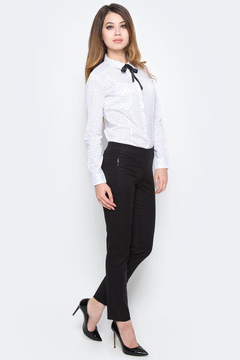 Брюки женские Sela, цвет: черный. P-115/841-7370. Размер 48P-115/841-7370Женские брюки Sela, выполненные в классическом стиле из качественного материала, помогут создать модный повседневный образ. Укороченная модель зауженного силуэта застегивается на скрытую молнию сбоку и спереди дополнена двумя прорезными карманами на молниях. На поясе имеются шлевки для ремня. Изделие подойдет для офиса, прогулок или дружеских встреч и станет отличным дополнением к гардеробу. Мягкая ткань на основе хлопка, нейлона и эластана приятна на ощупь и комфортна в носке.