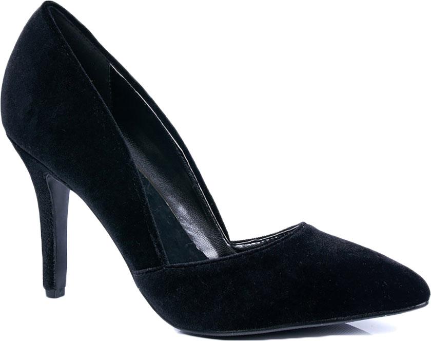 Туфли женские Vitacci, цвет: черный. 87288. Размер 39872_88Элегантные женские туфли-лодочки от Vitacci выполнены из текстиля. Внутренняя поверхность и стелька изготовлены из натуральной кожи, а подошва - из прочного термополиуретана. Модель имеет заостренный мысок и устойчивый каблук-шпильку.