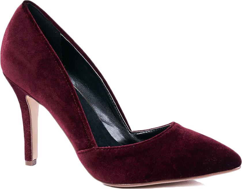 Туфли женские Vitacci, цвет: бордовый. 87290. Размер 40872_90Элегантные женские туфли-лодочки от Vitacci выполнены из текстиля. Внутренняя поверхность и стелька изготовлены из натуральной кожи, а подошва - из прочного термополиуретана. Модель имеет заостренный мысок и устойчивый каблук-шпильку.