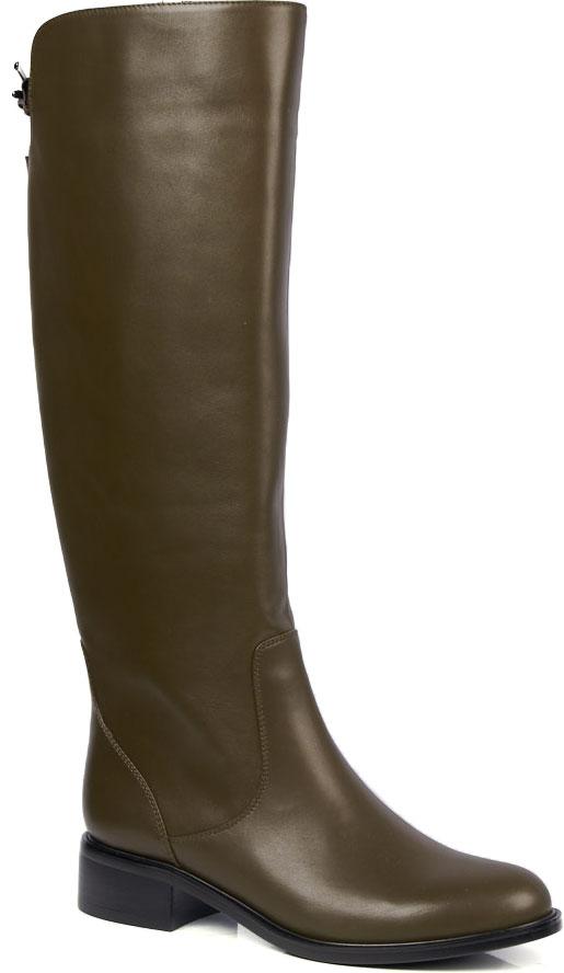 Сапоги женские Vitacci, цвет: коричневый. 93033. Размер 3593033Стильные осенние сапоги от Vitacci выполнены из натуральной кожи. Внутренняя поверхность и стелька изготовлены из ворсина. Подошва, выполненная из термополиуретана - прочного морозоустойчивого материала, обеспечивает отличную амортизацию на любой поверхности. Модель имеет закругленный мысок и каблук-кирпичик, застегивается на боковую молнию. Сзади голенище дополнено декоративным металлическим элементом.