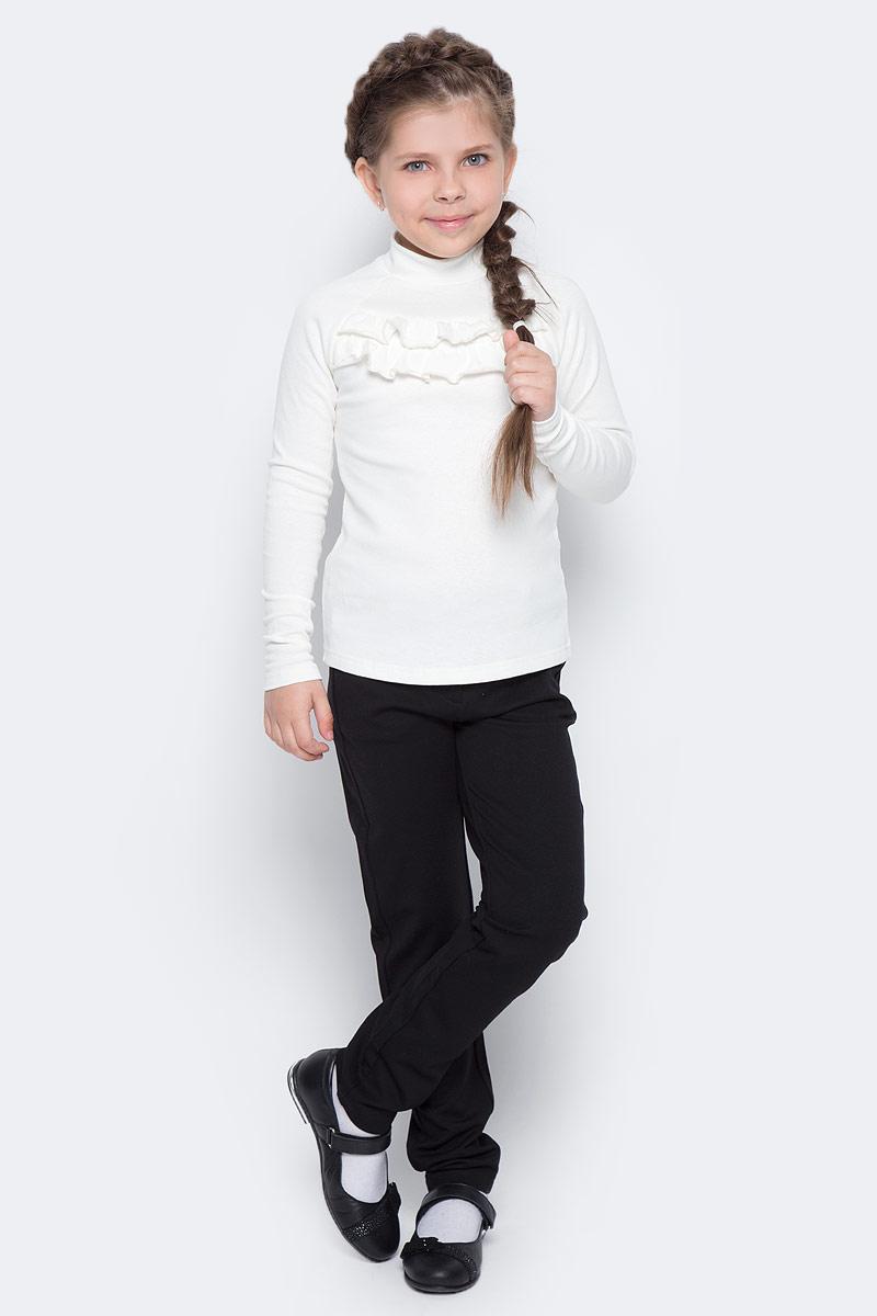 Водолазка для девочки Nota Bene, цвет: молочный. CJR27035A17. Размер 140CJR27035A17Водолазка для девочки Nota Bene выполнена из хлопкового трикотажа. Модель с длинными рукавами и воротником-стойкой на груди декорирована рюшами.