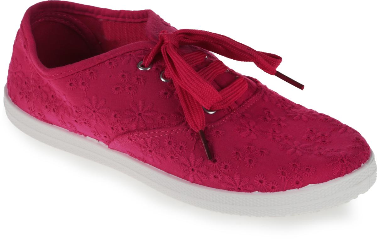 Кеды женские Алми, цвет: ярко-розовый. 54108-73000. Размер 4054108-73000Стильные кеды Алми изготовлены из ажурного текстиля. Практичная шнуровка с язычком прочно зафиксирует модель на ноге. Стелька из мягкого текстиля гарантирует комфорт при носке. Гибкая подошва обеспечивает идеальное сцепление с разными поверхностями. Кеды прекрасно сидят на ноге и послужат отличным дополнением вашего гардероба!