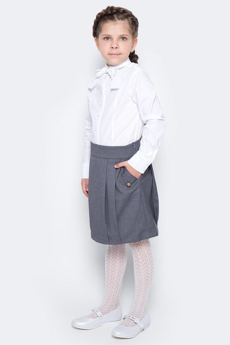 Блузка для девочки Overmoon by Acoola Liz, цвет: белый. 21200260005_200. Размер 12821200260005_200Блузка для девочки Luhta Liz выполнена из высококачественного материала. Модель приталенного кроя с отложным воротником и длинными рукавами застегивается на пуговицы.