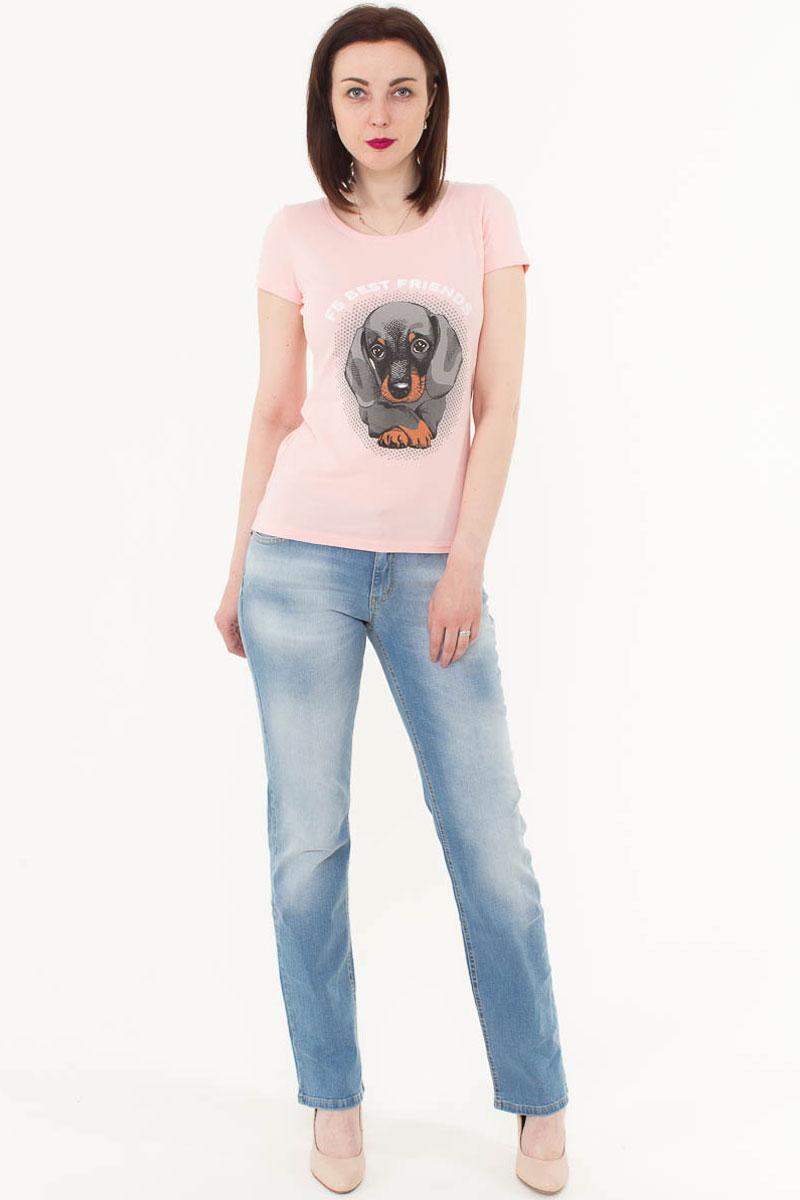 Джинсы женские F5, цвет: голубой. 175055_1950. Размер 30-32 (46-32)175055_1950, Blue denim 85/F str., w.lightЖенские джинсы F5 выполнены из качественного эластичного материала. Классическая модель на талии застегивается на пуговицу и имеет ширинку на застежке-молнии. На поясе имеются шлевки для ремня. Джинсы представляют собой классическую пятикарманку: два втачных и накладной карманы спереди и два накладных кармана сзади.