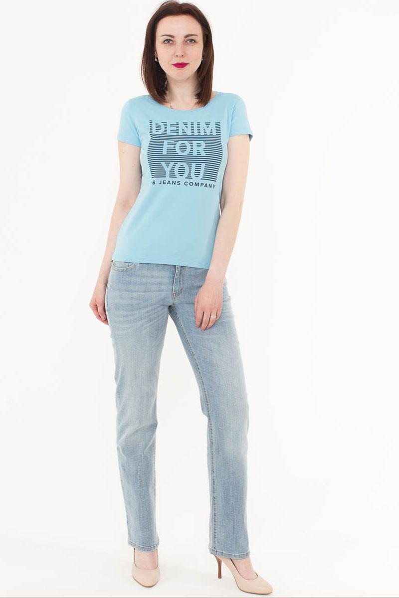 Джинсы женские F5, цвет: голубой. 175056_1950. Размер 26-32 (42-32)175056_1950, Blue denim 85/F str., w.very lightЖенские джинсы F5 выполнены из качественного эластичного материала. Классическая модель на талии застегивается на пуговицу и имеет ширинку на застежке-молнии. На поясе имеются шлевки для ремня. Джинсы представляют собой классическую пятикарманку: два втачных и накладной карманы спереди и два накладных кармана сзади.
