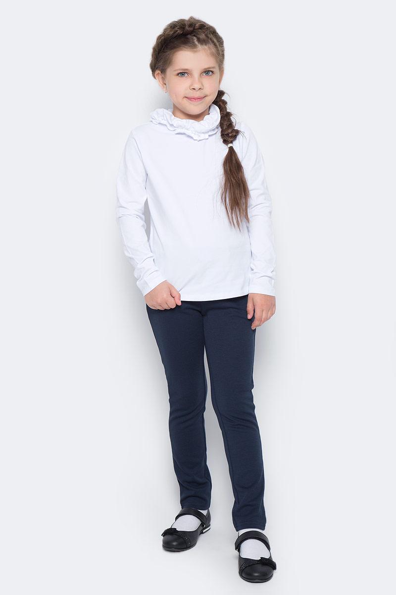 Водолазка для девочки Vitacci, цвет: белый. 2173087-01. Размер 1342173087-01Водолазка для девочки выполнена из хлопка и эластана. Модель с длинными рукавами.