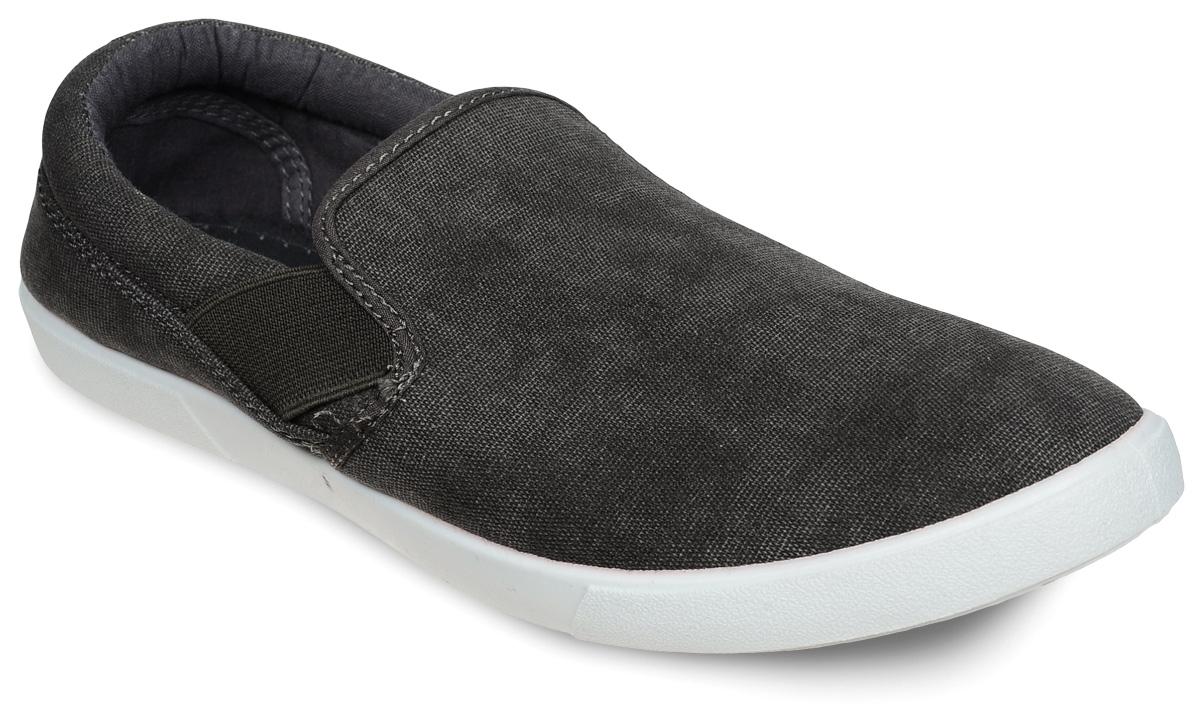 Слипоны мужские In Step, цвет: темно-серый. JT9395-4. Размер 44JT9395-4Стильные мужские слипоны от In Step выполнены из высококачественного текстиля. Подошва из резины устойчива к изломам. На подъеме модель дополнена эластичными вставками для удобства надевания. Аккуратно смотрятся на ноге, комфортно носятся.