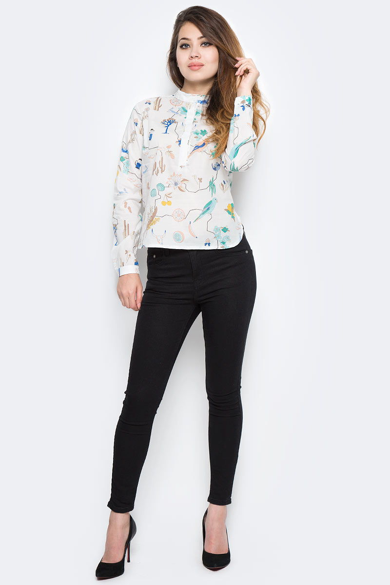 Рубашка женская Kawaii Factory Сурикаты, цвет: белый. KW181-000007. Размер 42/46KW181-000007