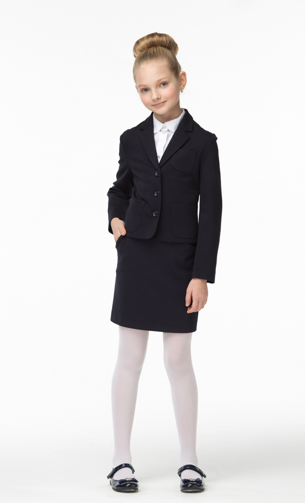 Юбка для девочек Смена, цвет: синий. 16с722-66. Размер 152/15816с722-66Юбка из смесовой вискозы прилегающего силуэта прямая к низу, с втачным поясом и боковыми карманами. Длина - чуть выше колена.