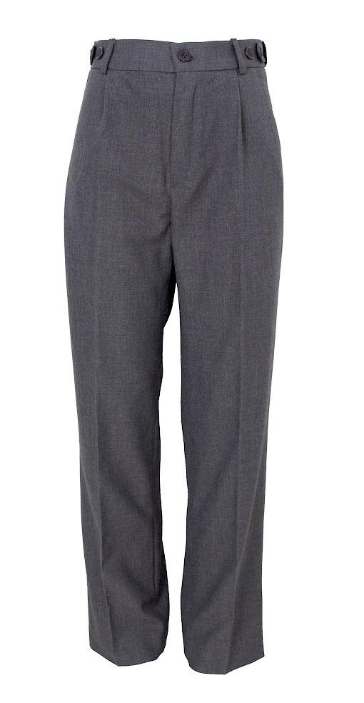 Брюки для мальчиков Смена, цвет: серый. 16с91. Размер 152/15816с91Прямые брюки из смесовой вискозы со стрелками и боковыми карманами, на втачном поясе с регулировкой и шлёвками. Задняя часть пояса на резинке.