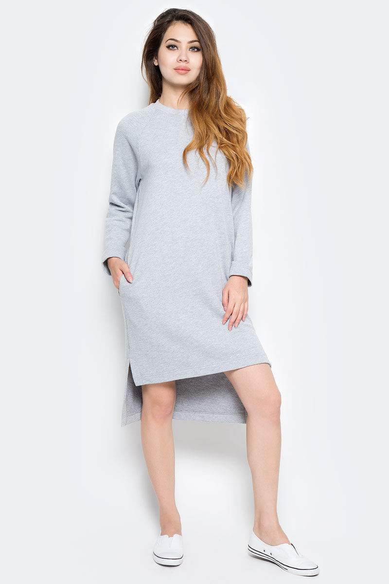 Платье Kawaii Factory, цвет: светло-серый. KW177-000033. Размер S (40/42)KW177-000033