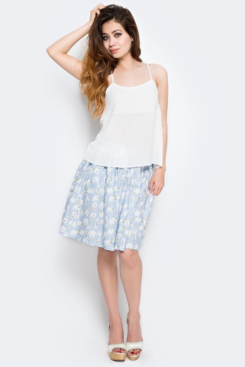 Топ женский Only, цвет: молочный. 15137633_Cloud Dancer. Размер 34 (40)15137633_Cloud DancerТоп Only выполнен из полиэстера с добавлением эластана. Модель имеет бретельки, глубокое декольте и свободный крой.