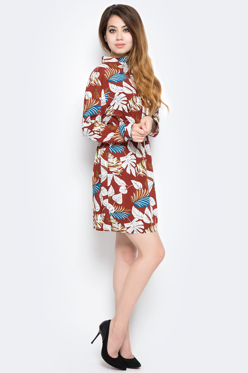 Платье Kawaii Factory, цвет: коричневый. KW177-000077. Размер S (40/42)KW177-000077