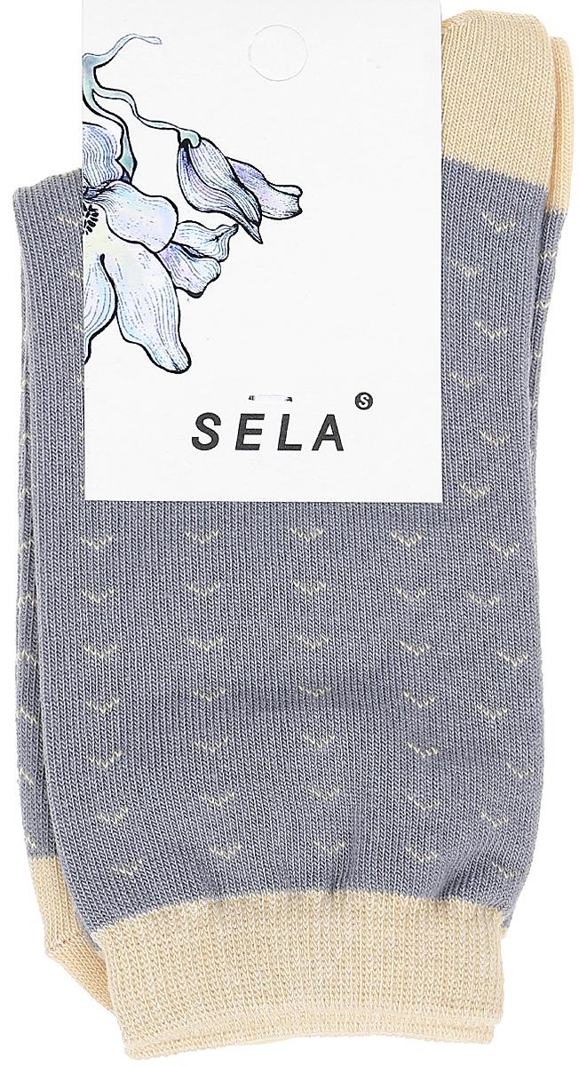 Носки женские Sela, цвет: серый. SOb-154/053-7331. Размер 23/25SOb-154/053-7331Удобные женские носки Sela изготовлены из высококачественного приятного на ощупь материала. Благодаря содержанию мягкого хлопка в составе, кожа сможет дышать, а эластан позволяет носкам легко тянуться, что делает их комфортными в носке. Эластичная резинка плотно облегает ногу, не сдавливая ее, и обеспечивает комфорт и удобство. Уважаемые клиенты! Размер, доступный для заказа, является длиной стопы.