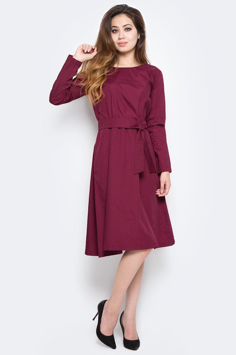 Платье Kawaii Factory №5, цвет: бордовый. KW177-000024. Размер S (40/42)KW177-000024