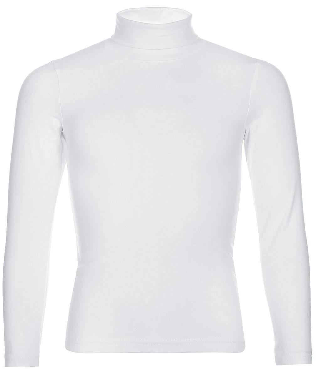 Водолазка для девочки LeadGen, цвет: белый. G935007314-172. Размер 122G935007314-172Водолазка для девочки LeadGen выполнена из эластичного хлопкового трикотажа. Модель с длинными рукавами и воротником-гольф.