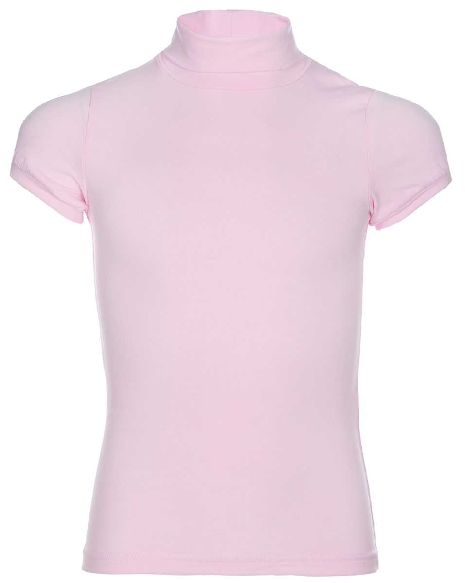 Водолазка для девочки LeadGen, цвет: розовый. G970008216-172. Размер 176G970008216-172Водолазка для девочки LeadGen выполнена из эластичного хлопкового трикотажа. Модель с короткими рукавами и воротником-гольф.