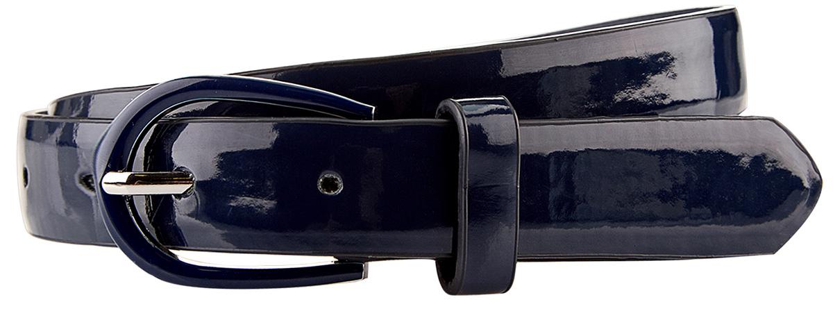 Ремень женский oodji, цвет: синий. 45100839/18076/7900N. Размер 10045100839/18076/7900NКожаный лаковый ремень с аккуратной овальной пряжкой в тон. Модель из искусственной кожи с треугольным концом и тонкими шлевками для фиксации. Ремень гладкий, без тиснения и прострочки. Элегантный ремень можно носить с юбкой-карандашом или удлиненной трикотажной блузкой, подчеркивая талию. Он великолепно подойдет для ношения с повседневными нарядами или в офисе. Такой ремень станет отличным дополнением вашего образа и будет востребован.
