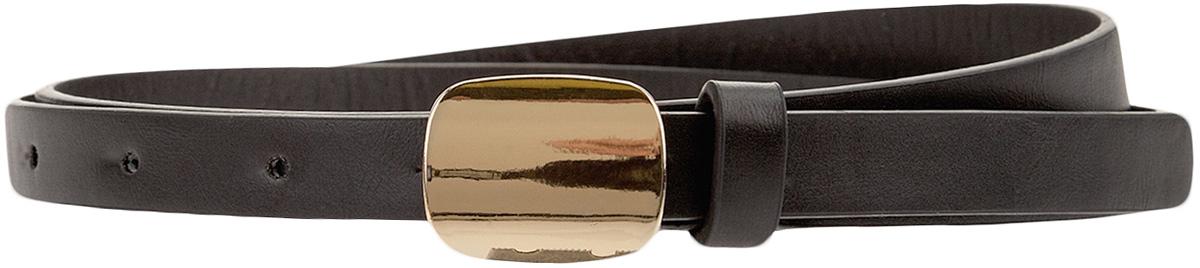 Ремень женский oodji, цвет: черный. 45100026/18300/2900N. Размер 10545100026/18300/2900NРемень средней ширины со сплошной металлической пряжкой. Пряжка-пластина смотрится эффектно и привлекает к себе внимание. Для более удобной фиксации ремня предусмотрена шлевка из такой же искусственной кожи, как и сам ремень.Элегантный ремень с эффектной пряжкой-пластиной завершит созданный вами образ. Его можно надеть с платьем, брюками, юбкой. В свободном наряде ремень красиво подчеркнет линию талии и сделает силуэт более женственным и стройным. Такой ремень сможет легко вписаться в любой женский гардероб. Вы сможете использовать его в офисных комплектах, луках для учебы, свидания, вечеринок.