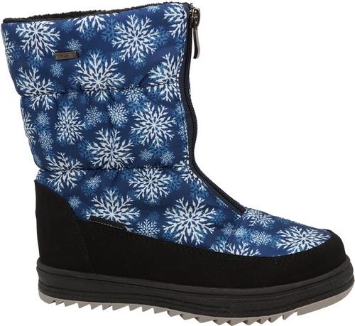 Сапоги для девочки Зебра, цвет: голубой. Размер 3311998-6Сапоги для девочки, выполненные из водонепроницаемого текстиля, отлично согреют ноги в холодную погоду. Внутренняя поверхность и стелька изготовлены из шерсти. Подошва дополнена рифлением.