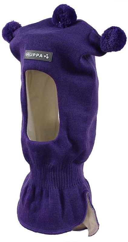 Шапка-шлем детская Huppa Coco, цвет: темно-фиолетовый. 85070000-70053. Размер S (47/49)85070000-70053Теплая шапка-шлем Huppa Coco выполнена из мериносовой шерсти с добавлением акрила, подкладка выполнена из натурального хлопка. Изделие оснащено мембраной для защиты ушей от холода. Модель декорирована тремя небольшими помпонами. Шейная часть изделия связана резинкой. Уважаемые клиенты! Обращаем ваше внимание на тот факт, что размер, доступный для заказа, является обхватом головы.