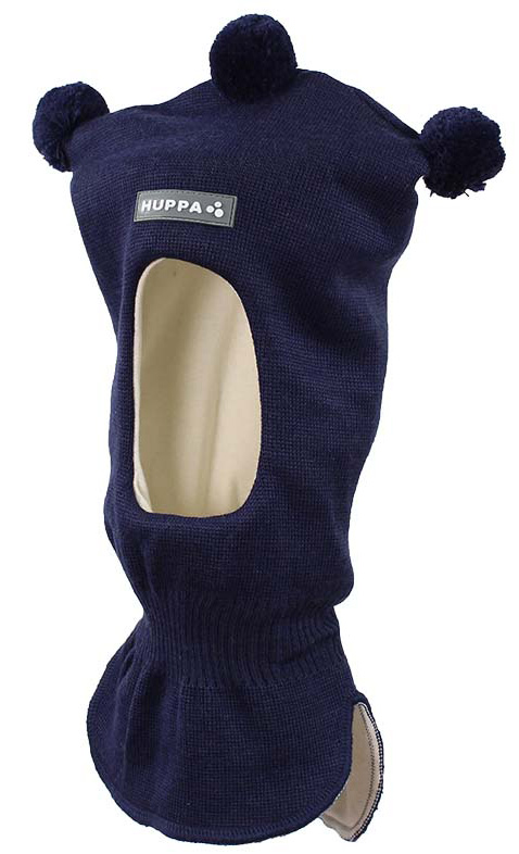 Балаклава детская Huppa Coco, цвет: темно-синий. 85070000-60086. Размер M (51/53)85070000-60086Вязаная шапка-шлем для детей COCO. Теплая вязанная шапочка-шлем на хлопковой подкладке, прекрасно подойдет для повседневных прогулок в холодное время года.