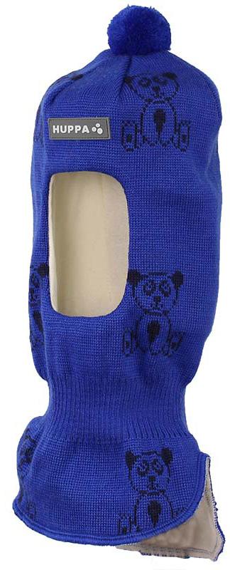 Балаклава детская Huppa Kelda, цвет: синий, темно-синий. 85120000-70135. Размер S (47/49)85120000-70135Вязаная шапка-шлем для детей KELDA. Теплая вязаная шапочка на хлопковой подкладке, прекрасно подойдет для повседневных прогулок в холодную погоду.