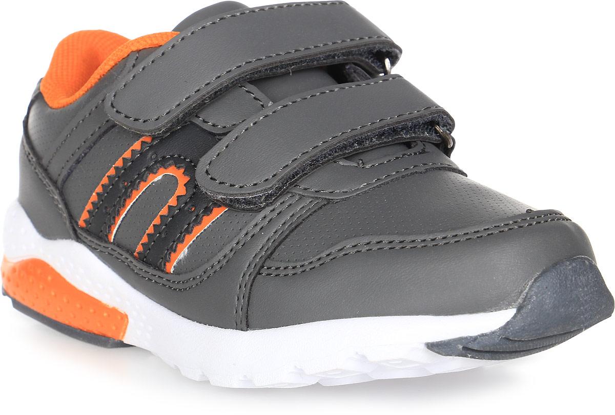 Кроссовки для мальчика BiKi, цвет: серый. А-B25-48-C. Размер 30А-B25-48-CКроссовки BiKi выполнены из искусственной кожи с фактурным тиснением. Модель оформлена прострочкой и контрастными вставками по бокам. Застежки-липучки обеспечивают надежную фиксацию обуви на ноге ребенка. Подкладка выполнена из текстиля и натуральной кожи, что предотвращает натирание и гарантирует уют. Подошва с рифлением обеспечивает идеальное сцепление с любыми поверхностями. Стильные и удобные кроссовки - незаменимая вещь в гардеробе каждого ребенка.