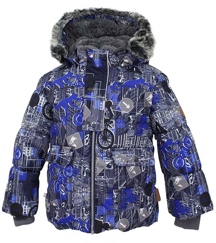 Куртка детская Huppa Oliver, цвет: темно-синий. 17900030-72286. Размер 10417900030-72286Детская куртка Huppa изготовлена из водонепроницаемого полиэстера. Куртка с капюшоном застегивается на застежку-молнию и кнопки. Модель дополнена отстегивающимся капюшоном с мехом. У модели имеются два накладных кармана с клапанами на кнопках. Изделие дополнено светоотражающими элементами.