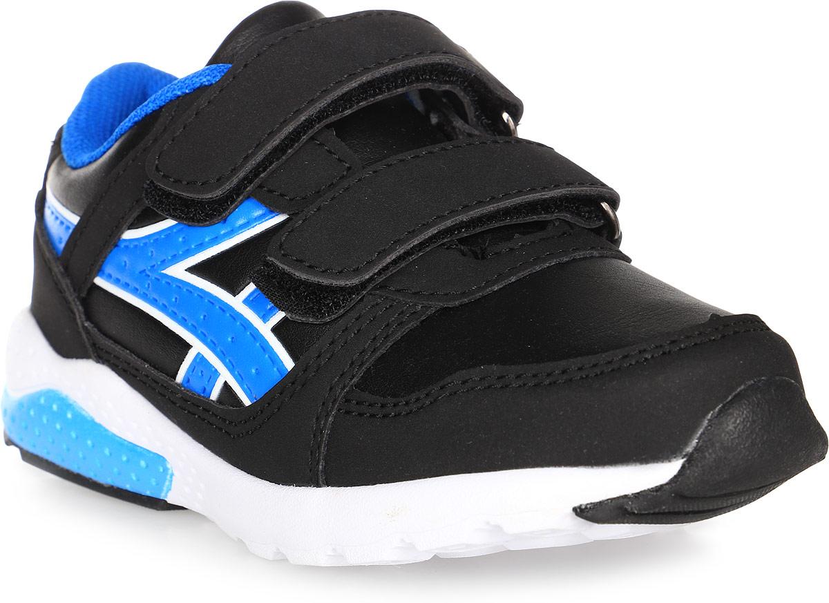 Кроссовки для мальчика BiKi, цвет: черный, голубой. А-B25-49-A. Размер 28А-B25-49-AКроссовки от фирмы BiKi выполнены из искусственной кожи и оформлены прострочкой, контрастными вставками по бокам. Застежки-липучки обеспечивают надежную фиксацию обуви на ноге ребенка. Подкладка выполнена из текстиля и натуральной кожи, что предотвращает натирание и гарантирует уют. Подошва с рифлением обеспечивает идеальное сцепление с любыми поверхностями. Стильные и удобные кроссовки - незаменимая вещь в гардеробе каждого ребенка.