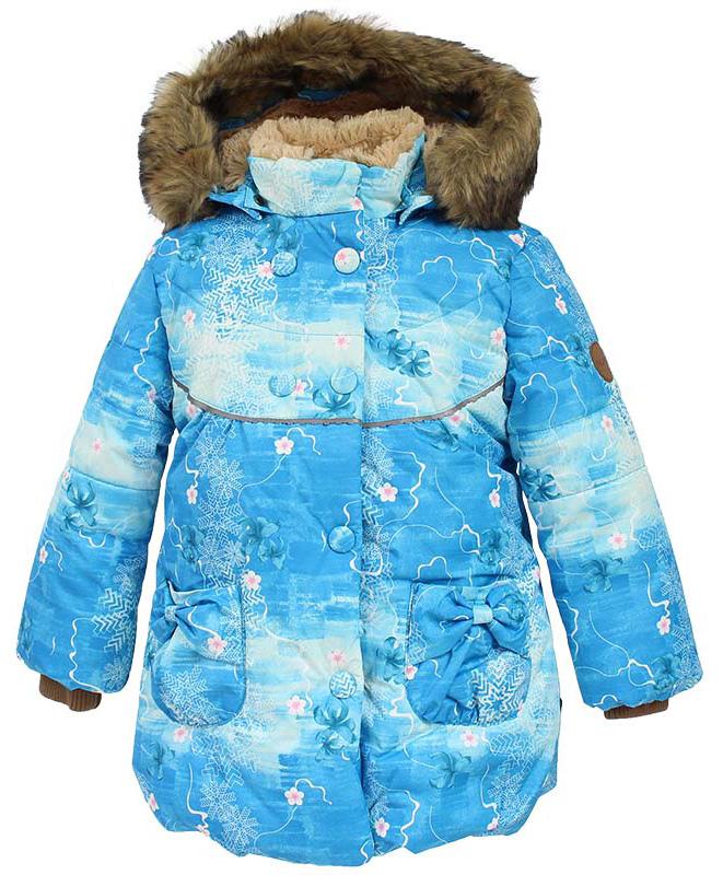 Куртка для девочки Huppa Olivia, цвет: голубой. 17890030-71346. Размер 11617890030-71346Куртка для девочки Huppa изготовлена из водонепроницаемого полиэстера. Куртка застегивается на застежку-молнию и кнопки. Модель дополнена отстегивающимся капюшоном с мехом. Изделие дополнено светоотражающими элементами.