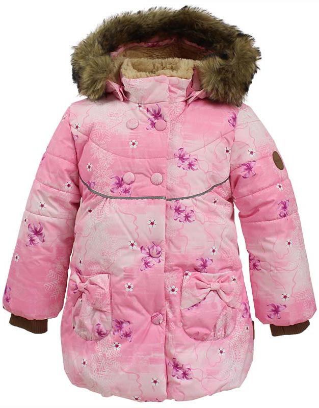 Куртка для девочек Huppa Olivia, цвет: розовый. 17890030-71313. Размер 11017890030-71313Куртка для девочек OLIVIA. Водо и воздухонепроницаемость 5 000. Утеплитель 300 гр. Подкладка Teddy Fur. Тафта 100% полиэстер. Капюшон с отстегивающимся мехом. Имеются светоотражательные элементы.
