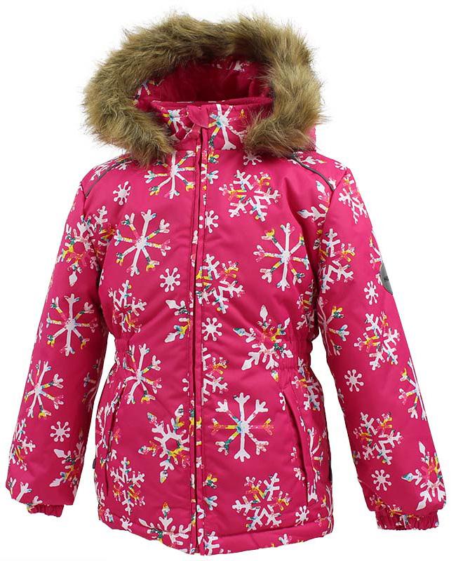 Куртка для девочки Huppa Marii, цвет: фуксия. 17830030-71663. Размер 11617830030-71663Теплая куртка для девочки Huppa идеально подойдет для ребенка в холодное время года. Куртка изготовлена из 100% полиэстера. Вес утеплителя - 300 г.Куртка с капюшоном застегивается на пластиковую застежку-молнию. Капюшон, декорированный мехом, защитит нежные щечки от ветра. Спереди расположены два прорезных кармашка. Оформлено изделие оригинальным принтом.Предусмотрены светоотражающие элементы для безопасности ребенка в темное время суток.