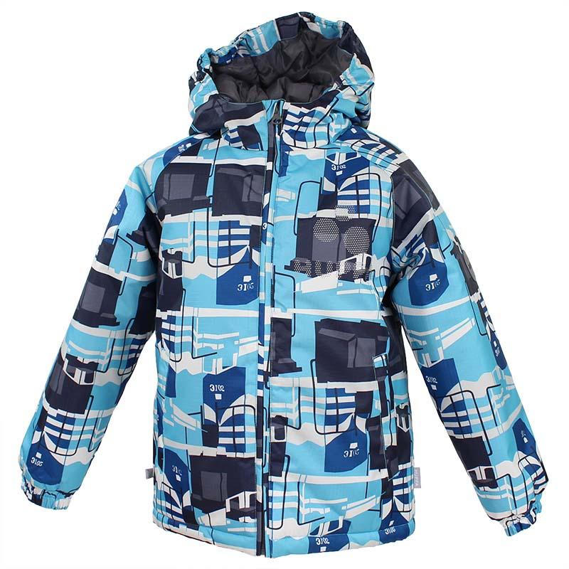 Куртка детская Huppa Classy, цвет: светло-синий. 17710030-876. Размер 10417710030-876Куртка для детей CLASSY. Водо и воздухонепроницаемость 10 000. Утеплитель 300 гр. Манжеты рукавов на резинке. Капюшон с резинкой. Имеются светоотражательные детали.