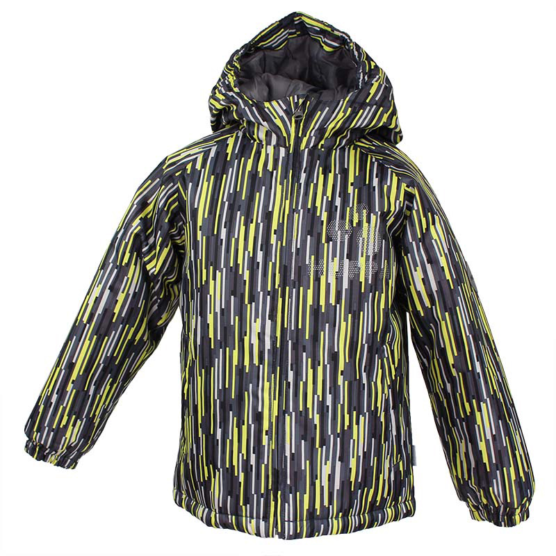 Куртка детская Huppa Classy, цвет: серый, желтый. 17710030-547. Размер 11617710030-547Детская куртка Huppa изготовлена из водонепроницаемого полиэстера. Куртка с капюшоном застегивается на пластиковую застежку-молнию с защитой подбородка. Края капюшона и рукавов собраны на внутренние резинки. У модели имеются два врезных кармана. Изделие дополнено светоотражающими элементами.