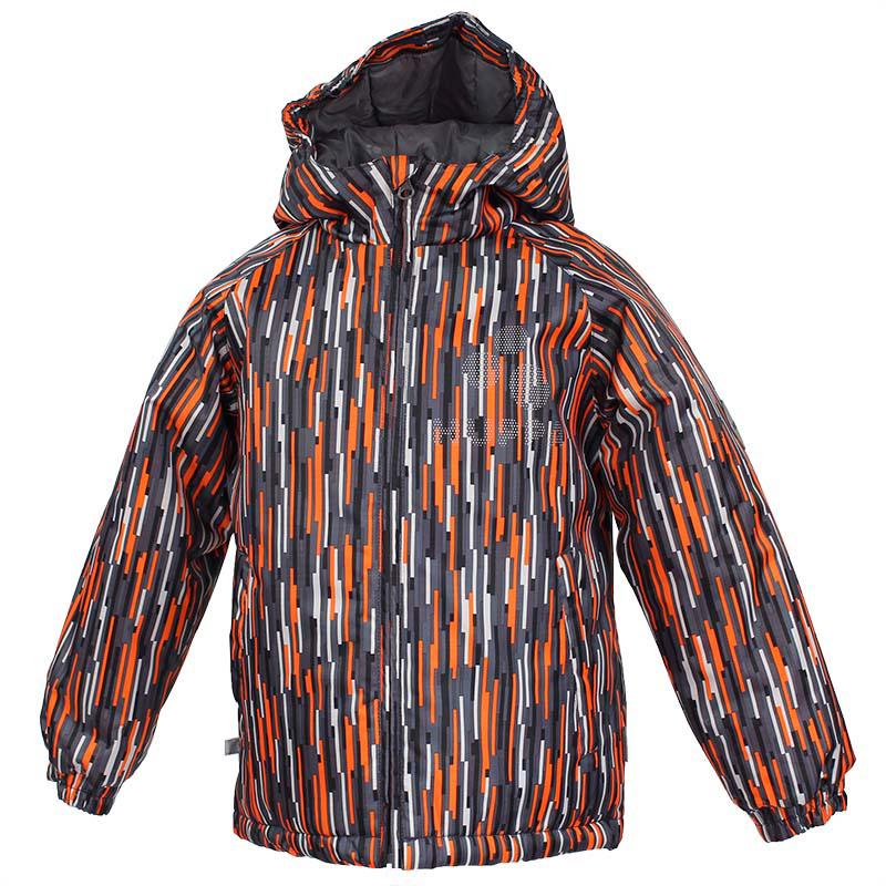 Куртка детская Huppa Classy, цвет: темно-серый, оранжевый. 17710030-509. Размер 11017710030-509Куртка для детей CLASSY. Водо и воздухонепроницаемость 10 000. Утеплитель 300 гр. Манжеты рукавов на резинке. Капюшон с резинкой. Имеются светоотражательные детали.