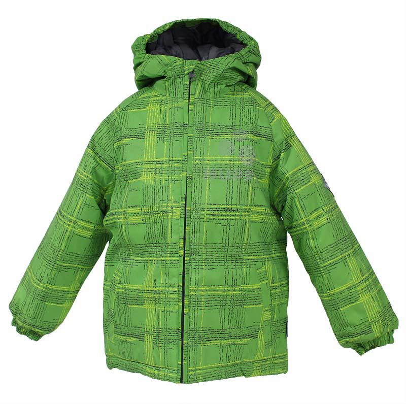 Куртка для мальчиков Huppa Classy, цвет: зеленый. 17710030-337. Размер 14017710030-337Куртка для детей CLASSY. Водо и воздухонепроницаемость 10 000. Утеплитель 300 гр. Манжеты рукавов на резинке. Капюшон с резинкой. Имеются светоотражательные детали.