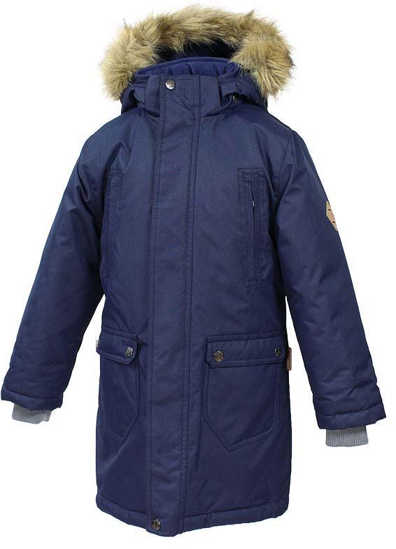 Куртка детская Huppa Vesper, цвет: темно-синий. 17480030-70086. Размер 16417480030-70086Детская куртка Huppa c длинными рукавами, воротником-стойкой и съемным капюшоном выполнена из высококачественного водонепроницаемого и ветрозащитного материала на основе полиэстера. Модель застегивается на застежку-молнию с защитой подбородка спереди и имеет ветрозащитный клапан на кнопках. Куртка дополнена светоотражающими элементами, все швы проклеены.