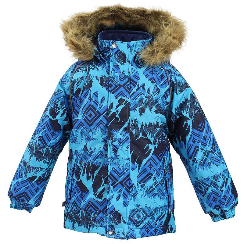 Куртка детская Huppa Marinel, цвет: синий. 17200030-73435. Размер 12217200030-73435Детская куртка Huppa изготовлена из водонепроницаемого полиэстера. Куртка с капюшоном застегивается на застежку-молнию и кнопки. Модель дополнена отстегивающимся капюшоном с мехом. Края рукавов собраны на внутренние резинки. У модели имеются два врезных кармана. Изделие дополнено светоотражающими элементами.