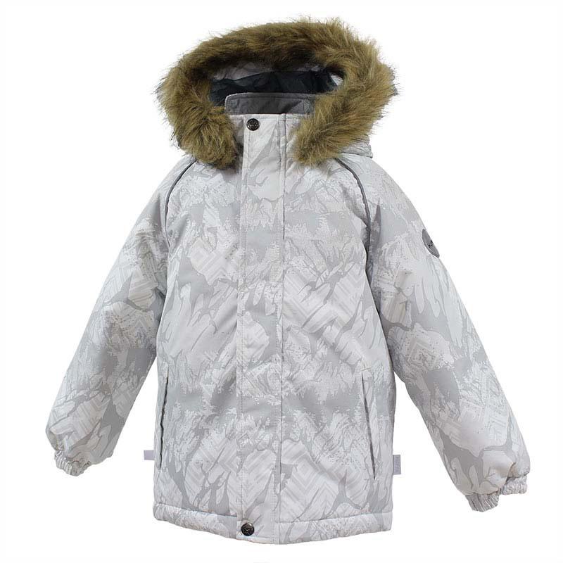 Куртка детская Huppa Marinel, цвет: белый. 17200030-73420. Размер 12217200030-73420Детская куртка Huppa изготовлена из водонепроницаемого полиэстера. Куртказастегивается на застежку-молнию и кнопки. Модель дополнена отстегивающимся капюшоном с мехом. Края рукавов собраны на внутренние резинки. У модели имеются два врезных кармана. Изделие дополнено светоотражающими элементами.